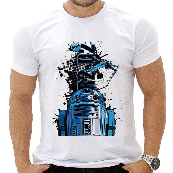 Camiseta Masculina - Star Wars R2D2