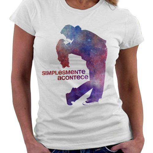 Camiseta Feminina - Livro Simplesmente Acontecde
