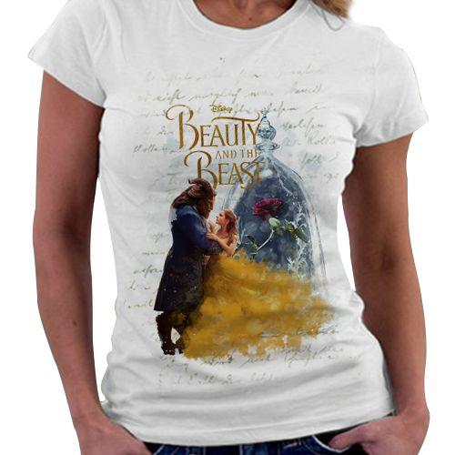 Camiseta Feminina - A Bela e a Fera - Rosa