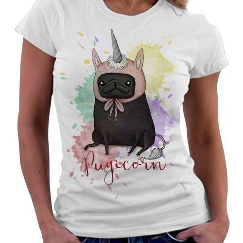 Camiseta Feminina - Pugicorn