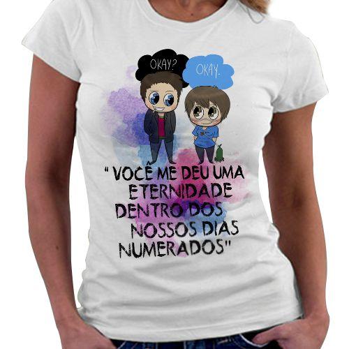 Camiseta Feminina - A culpa é das Estrelas - Dias Numerados