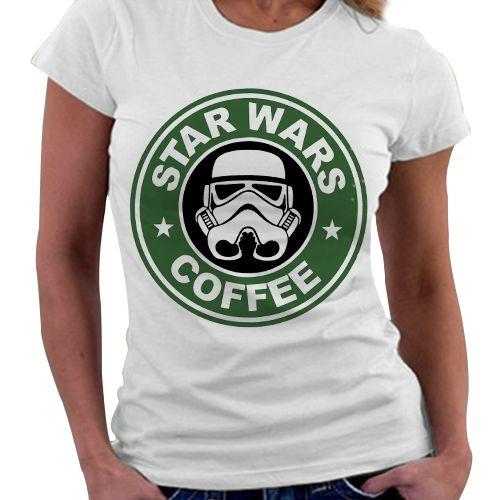 Camiseta Feminina - Star Wars - Star Coffee