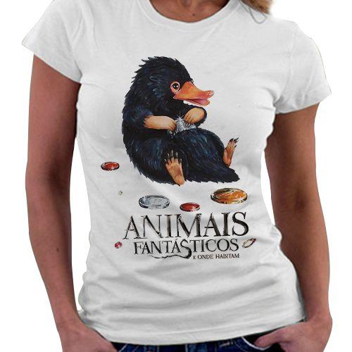 Camiseta Feminina - Animais Fantásticos - Pelúcio
