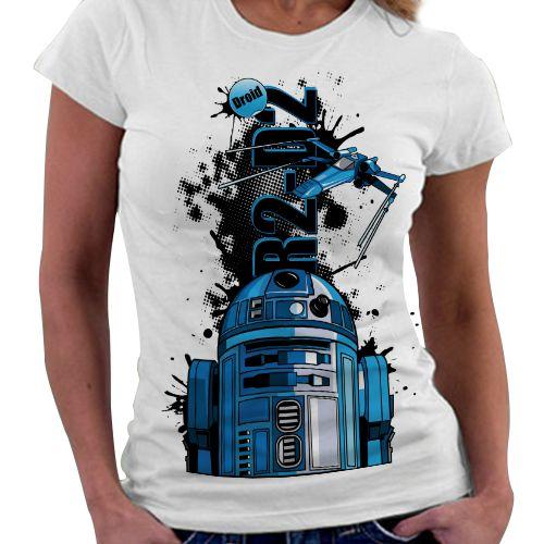 Camiseta Feminina - R2D2
