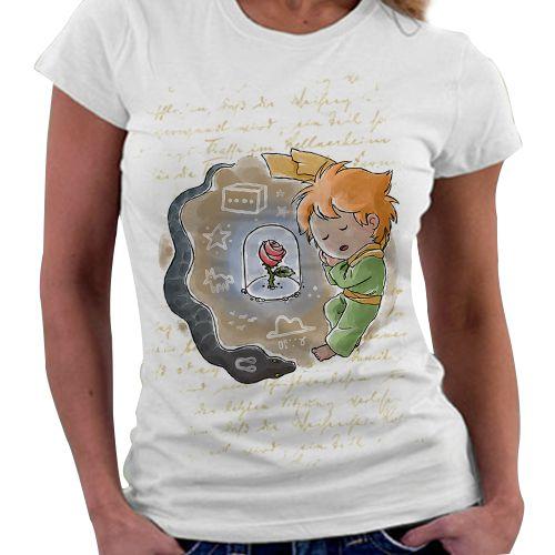 Camiseta Feminina - Pequeno Príncipe - Orange