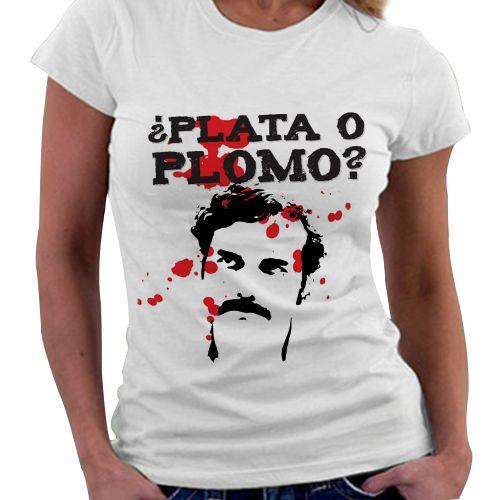 Camiseta Feminina - Plata o Plomo?