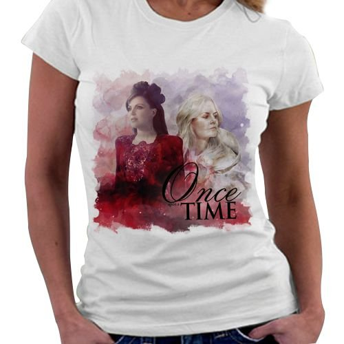 Camiseta Feminina - Once upon a time - Regina e Emma
