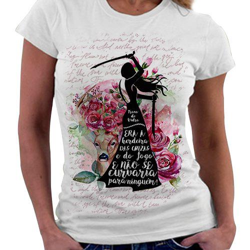 Camiseta Feminina - Trono de Vidro - Quote