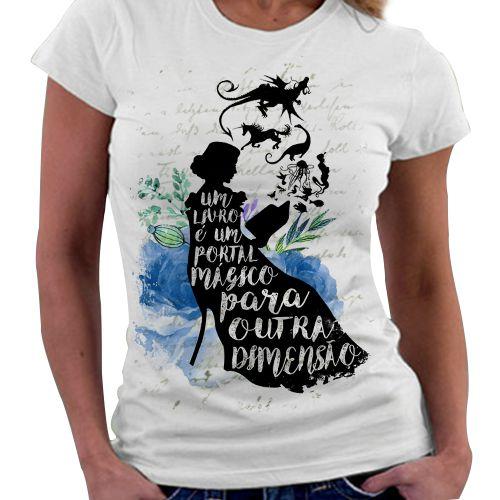 Camiseta Feminina - Livros, um portal