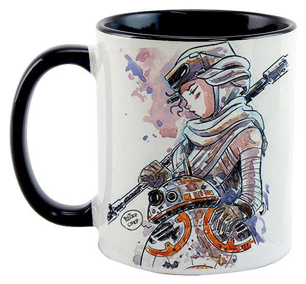 Caneca - Star Wars - BB8 e Rey