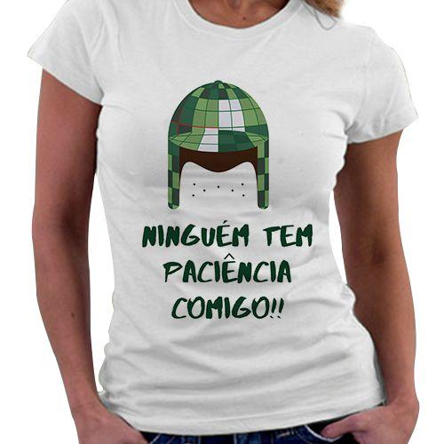Camiseta Feminina - Chaves - Ninguém tem paciência Comigo