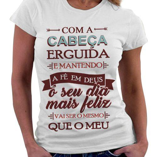 Camiseta Feminina - Oseu dia mais Feliz