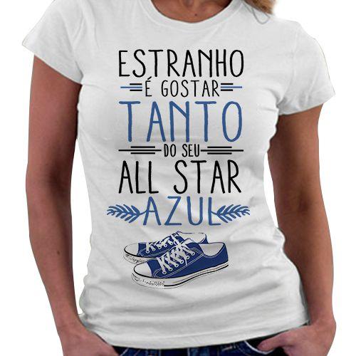 Camiseta Feminina - All Star Azul
