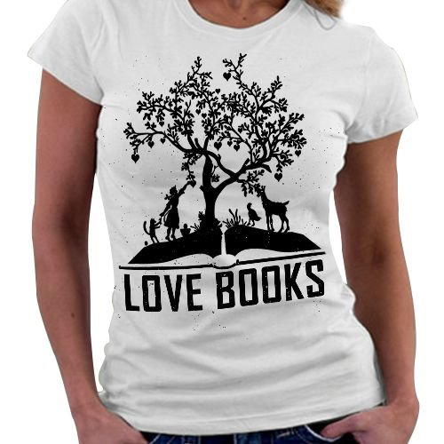 Camiseta Feminina - Love Books