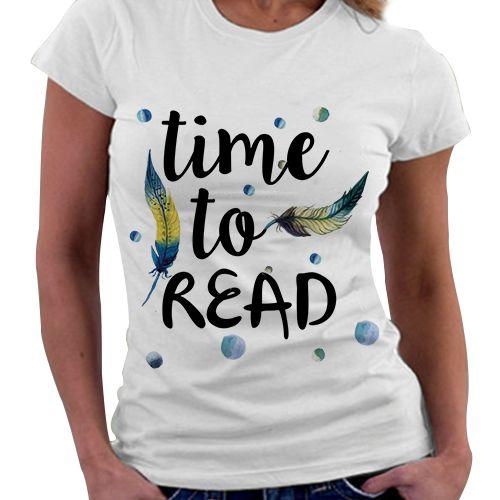 Camiseta Feminina - Time to Read