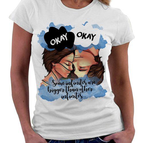 Camiseta Feminina - A culpa é das Estrelas - Okay, Okay