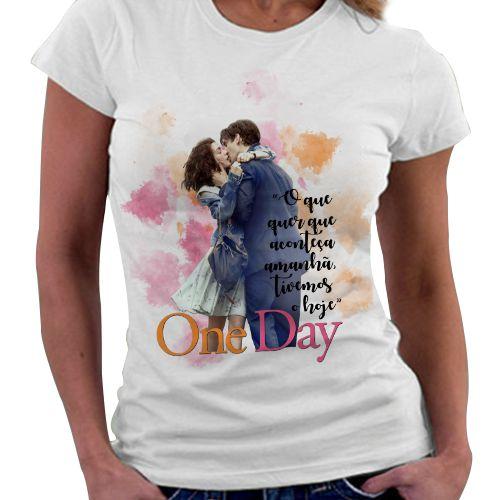 Camiseta Feminina - Livro One Day