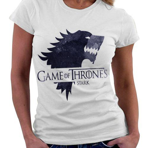 Camiseta Feminina - Game of Thrones - Casa Stark