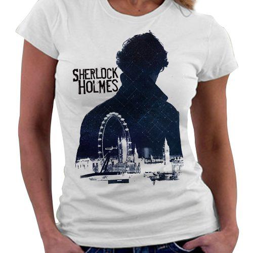 Camiseta Feminina - Sherlock Holmes