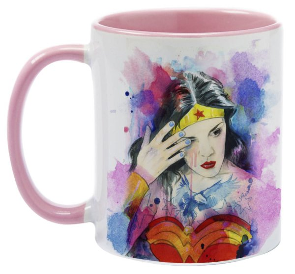 Caneca - Mulher Maravilha - Watercolor
