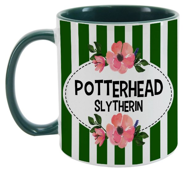 Caneca - Harry Potter - Casa Slytherin