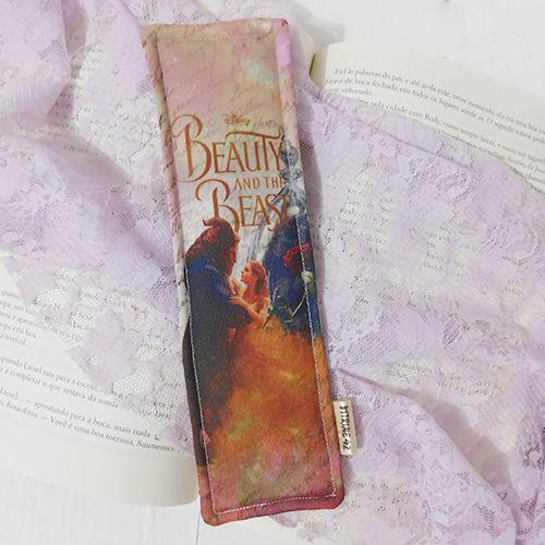 Marcador de Página - A Bela e a Fera - Rosa