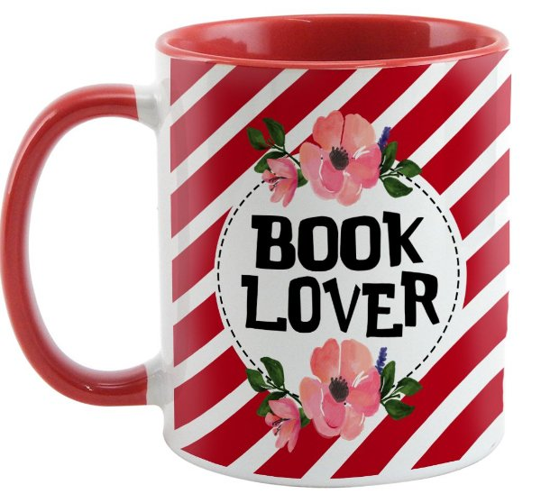Caneca - Bookstagram  - book Lover -Red