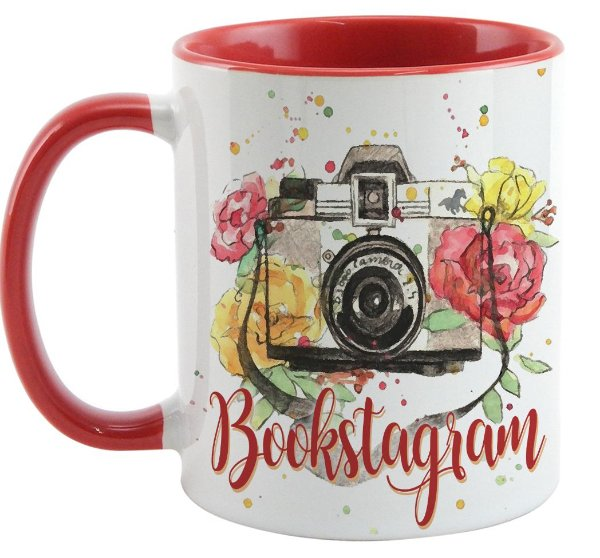 Caneca  - Bookstagram - Red flowers