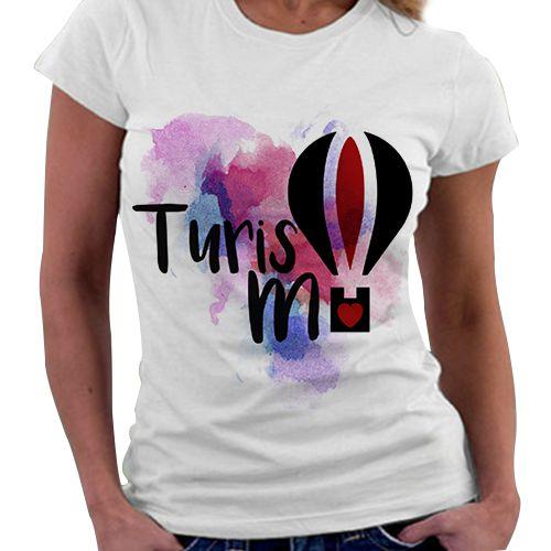 Camiseta Feminina - Profissões - Turismo