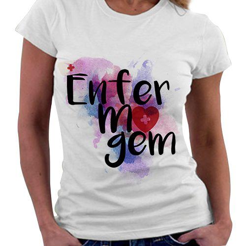 Camiseta Feminina - Profissões - Enfermagem