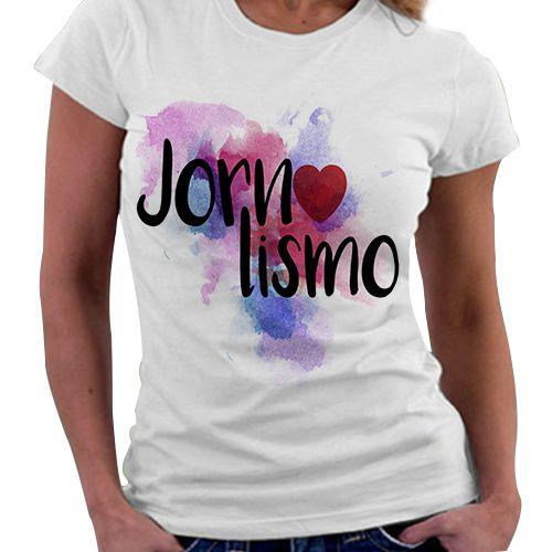 Camiseta Feminina - Profissões - Jornalismo
