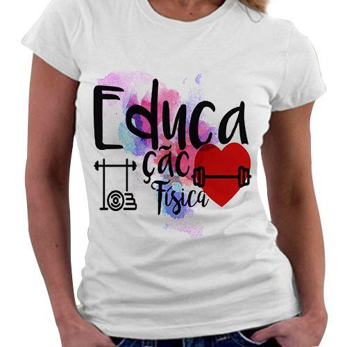 Camiseta Feminina - Profissões - Educação Física