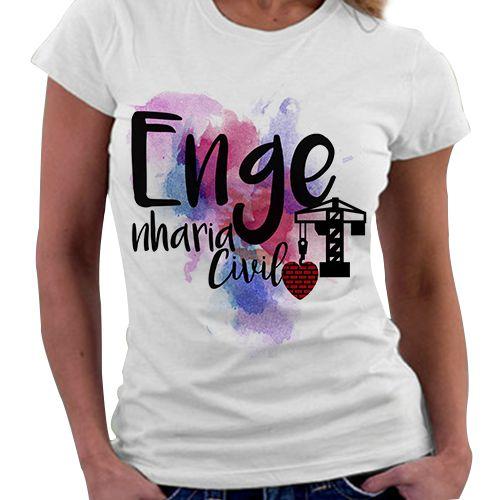 Camiseta Feminina - Profissões - Engenharia civil