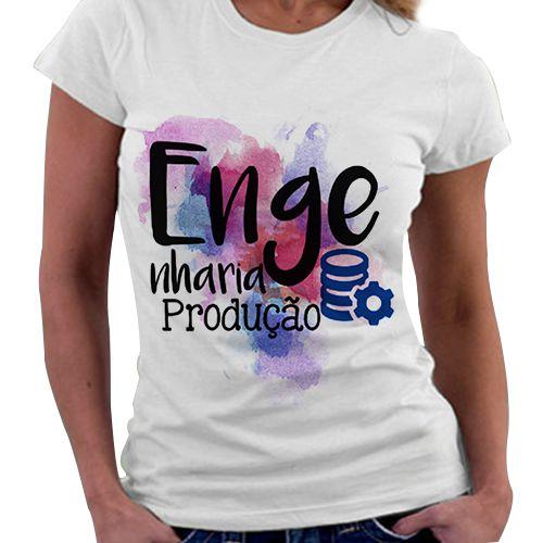 Camiseta Feminina - Profissões - Engenharia de Produção