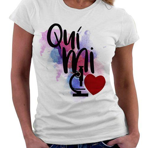 Camiseta Feminina - Profissões - Química