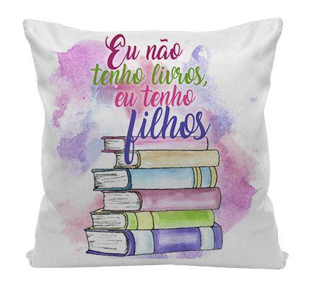 Almofada - Bookstagram - Tenho filhos