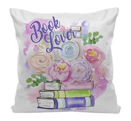Almofada - Bookstagram - Book Nerd Flowers