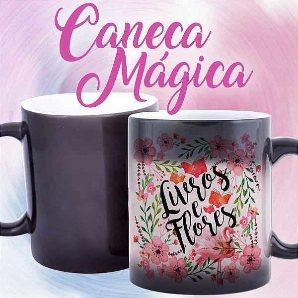 Caneca Mágica - Livros e Flores