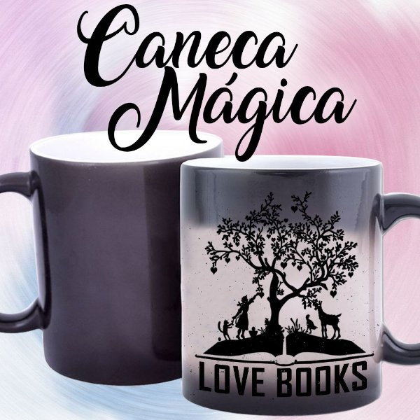 Caneca Mágica - Bookstagram - Love Books -Black