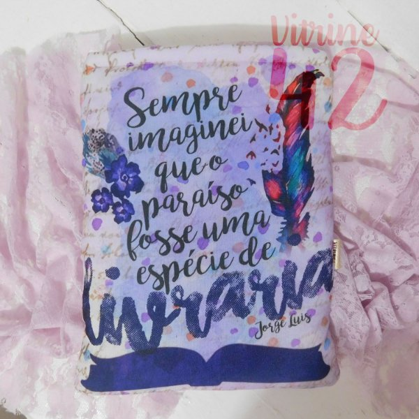 Capa Tipo Luva para Livro - Sempre imaginei que o Paraíso