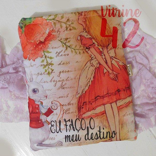 Capa Tipo Luva para Livro - Alice - Eu faço meu Destino