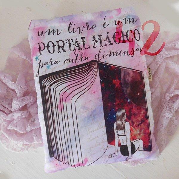 Capa Tipo Luva para Livro - Livros são um Portal