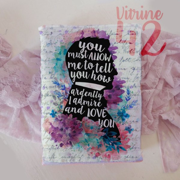 Capa Tipo Luva para Livro - Jane Austen - Love You