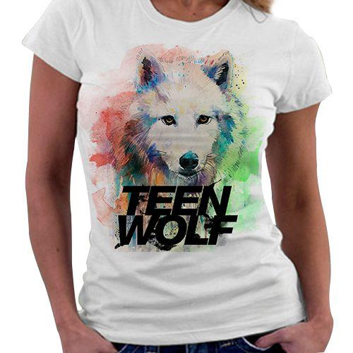 Camiseta Feminina - Teen Wolf Aquarela
