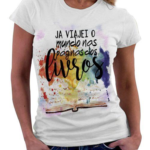 Camiseta Feminina - Bookstagram - Ler é viajar