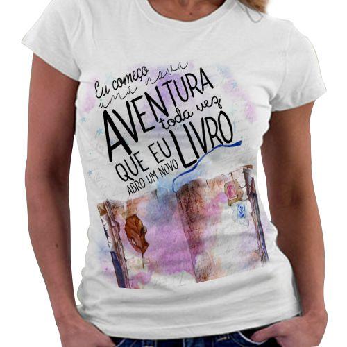 Camiseta Feminina - Bookstagram - Eu começo uma nova