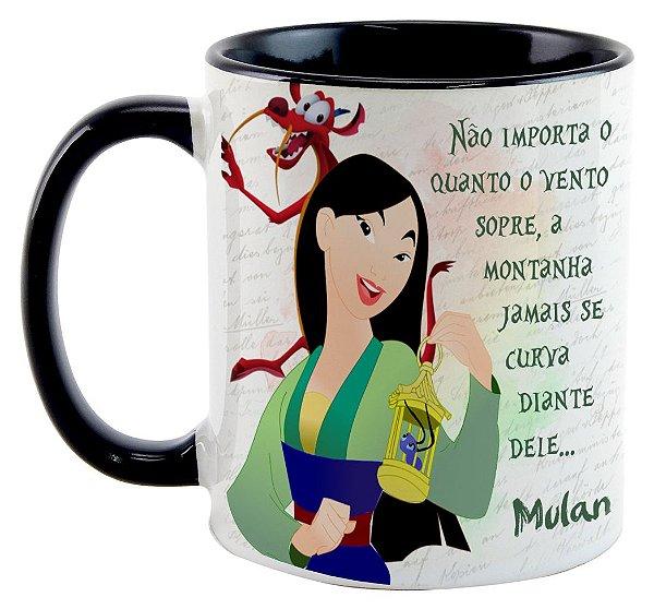Caneca - Mulan - Não importa o quanto o vento sopre