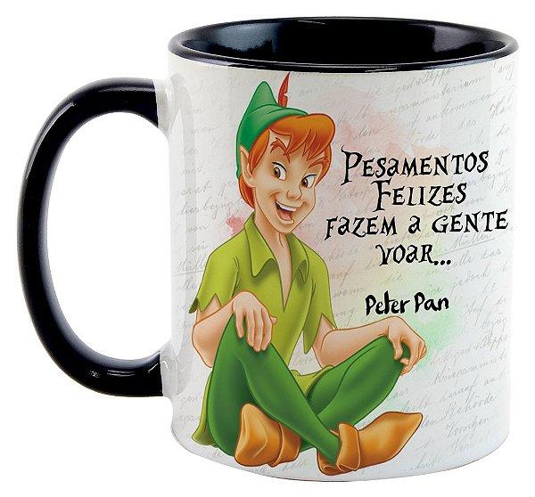 Caneca - Peter Pan - Pensamentos felizes fazem a gente voar