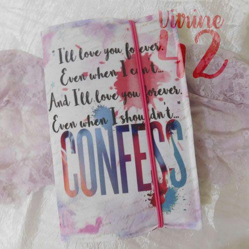 Capa ajustável para Livro - Livro Confess