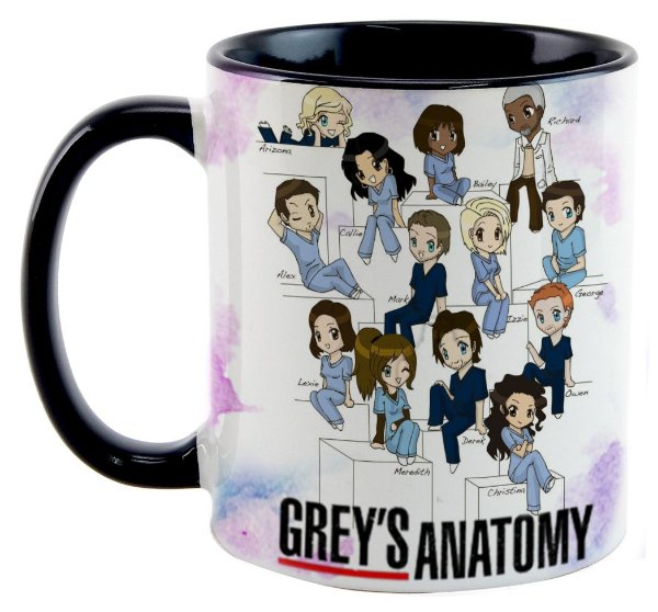Caneca - Grey's Anatomy - Personagens